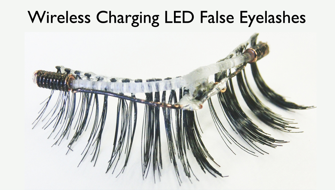 Ultra-small Wearable Technology: LED False Eyelashes