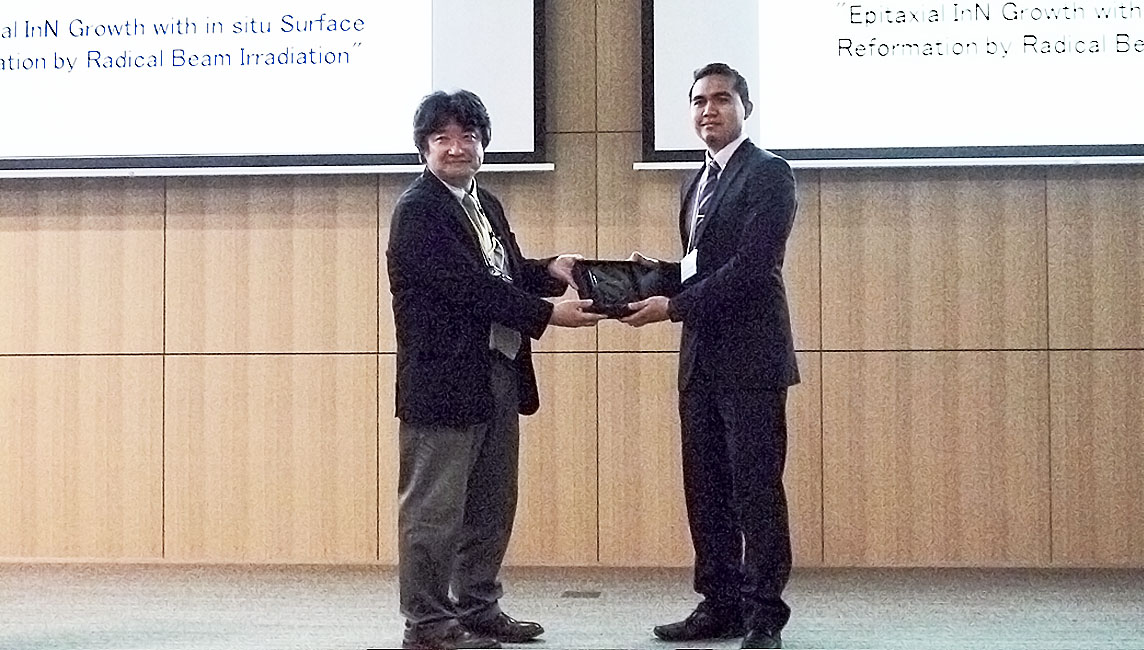 Ritsumeikan School of Science and Engineering student Faizul Salihin Bin Abas receives ISPlasma 2018 Best Oral Presentation Award