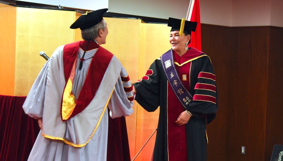 Princess Lalla Hasnaa receives an honorary doctorate award from Ritsumeikan University