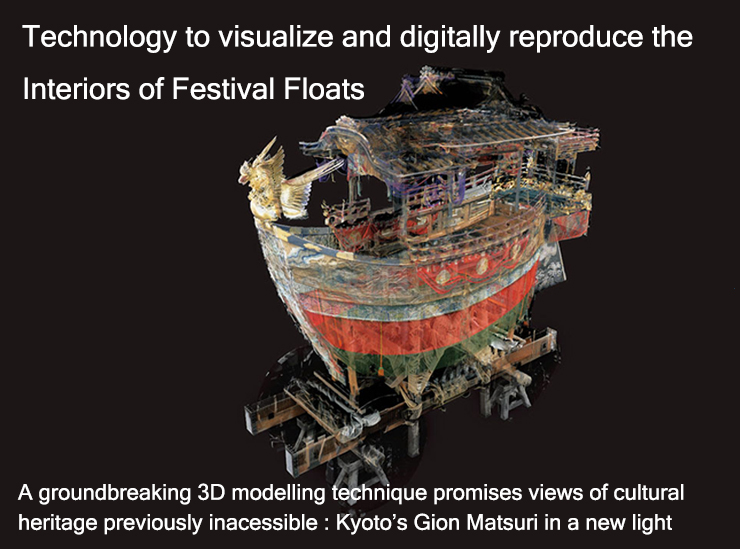Technology to visualize and digitally reproduce the Interiors of Festival Floats