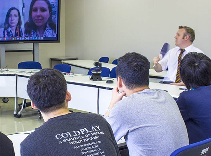 Professor French leads a Joint Degree Program introductory seminar in a round table format