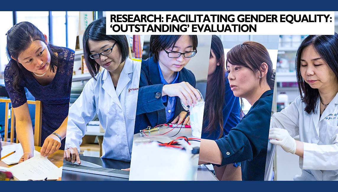 Promotion of Gender Equality and Diversity in the Research Environment - photos of five female researchers at Ritsumeikan University