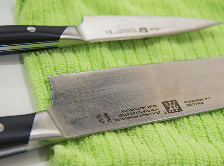Zwillings stainless steel culinary knives