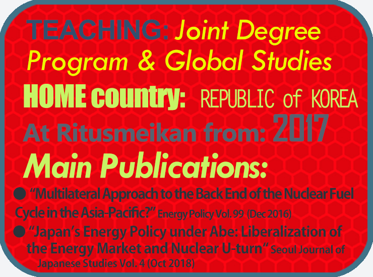 Info-graphic inc. 2 publication names Multilateral Approach to the Back End of the Nuclear Fuel Cycle in the Asia-Pacific? and Japan's Energy Policy under Abe: Liberalization of the Energy Market and Nuclear U-turn Seoul Journal of Japanese Studies