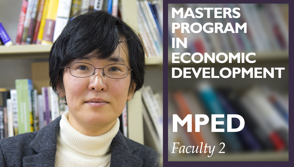 Ritsumeikan University Professor Tokumaru Master's in Economic Development