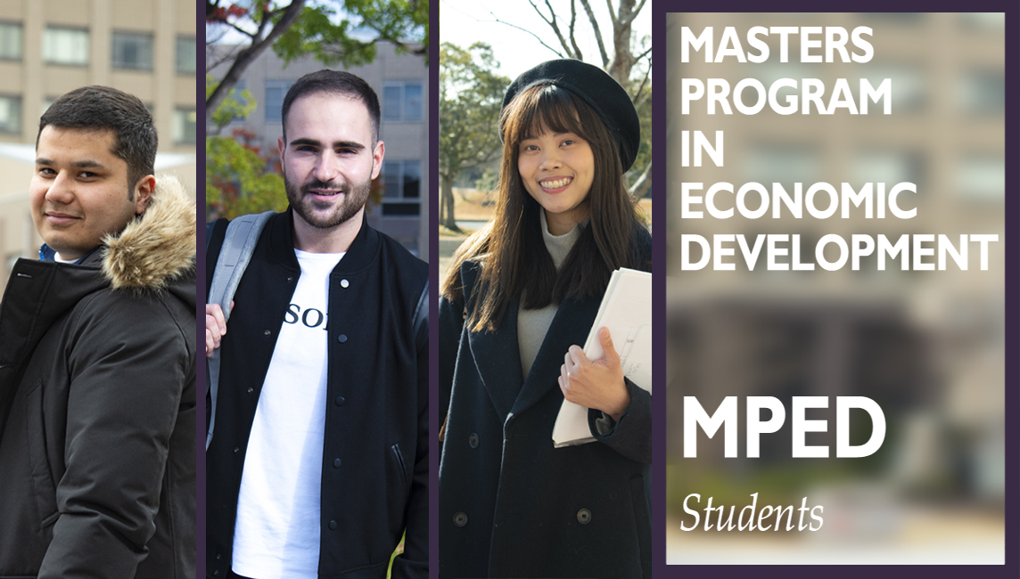 Three Master's students from the Master's Program in Development at Ritsumeikan University