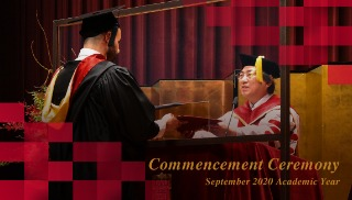 Ritsumeikan University Commencement Ceremony September 2020 Academic Year